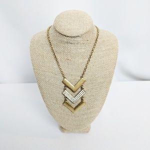 Vintage J Crew 3 Tiered V Shape Necklace